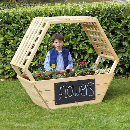 Wooden Geo Planters  large