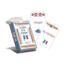 Flip-it Food and Drink French Cards  medium