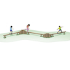 Outdoor Wooden Balance Trail  small