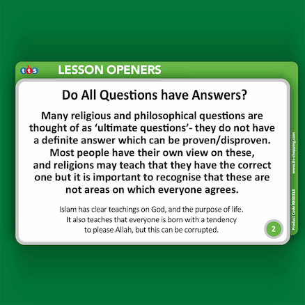 Islam Tin Lesson Opener Activity Cards  large
