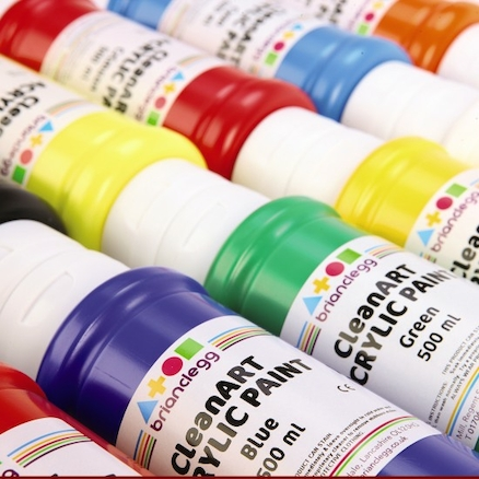 CleanART Assorted Acrylic Paints 10pk  large