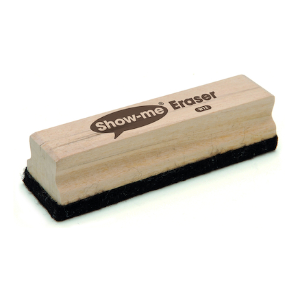 Show-me Wooden Handled Large Board Erasers 12pk  large