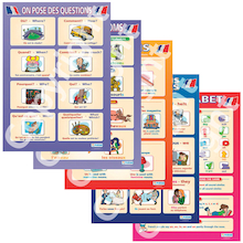 French Vocabulary Posters 5pk  medium