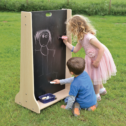 Wooden Outdoor Mark Making Chalkboard Panel  large