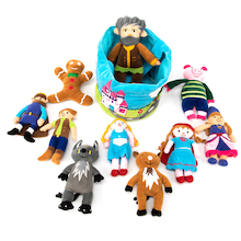 Fairytale Characters in a Soft Basket  medium