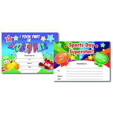 Assorted Sports Certificates 40pk  medium
