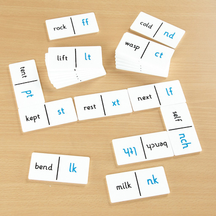 End Consonant Dominoes Game  large
