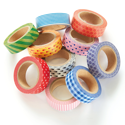 Printed Craft Tapes Assorted 10pk  large