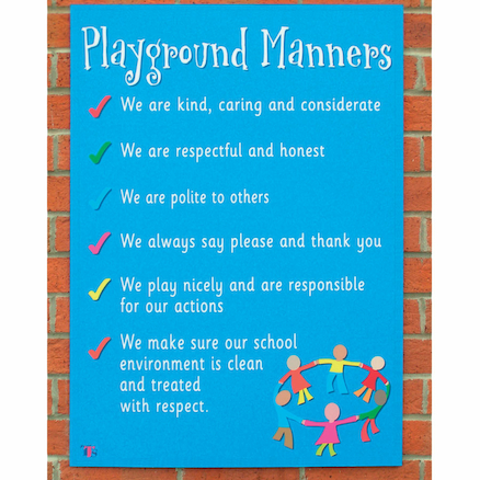 Playground Manners Sign  large