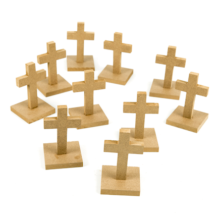 Plain wooden cross