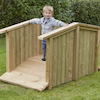Outdoor Wooden Toddler Bridge  small