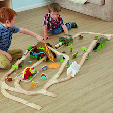 Small World Dinosaur Themed Train Railway Set  medium