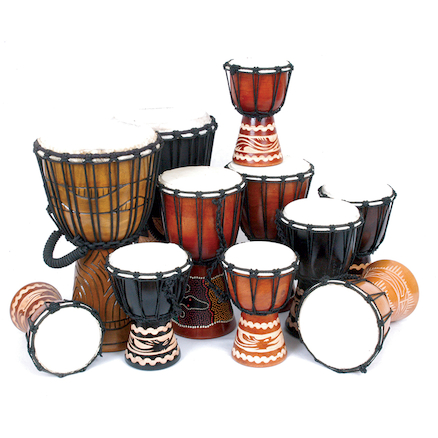 Beginners Djembe Drums Pack 11 Players  large