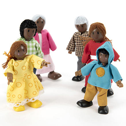 Small World Multicultural Family Figures Doll Set  large
