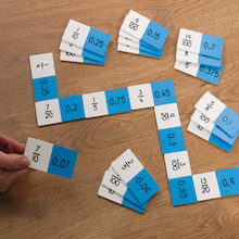Fraction and Decimal Equivalence Dominoes Set  medium