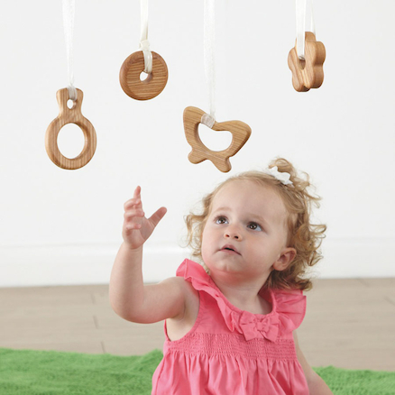 Wooden Curiosity Shapes for Babies 4pk  large