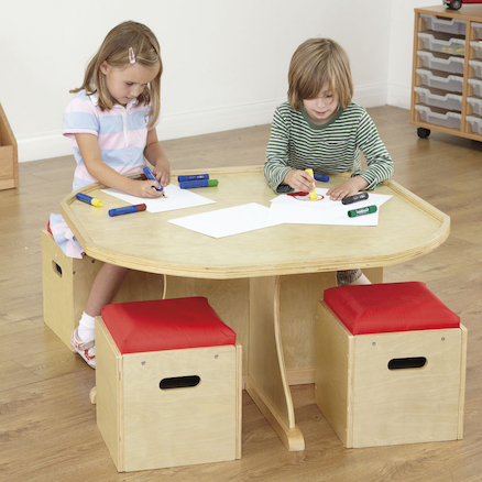 Active World Table with Seating  large