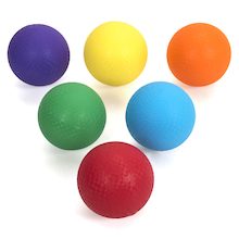 Rubber Playground Balls 6pk  medium