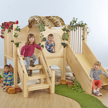 Indoor Wooden Climb and Slide Unit  medium