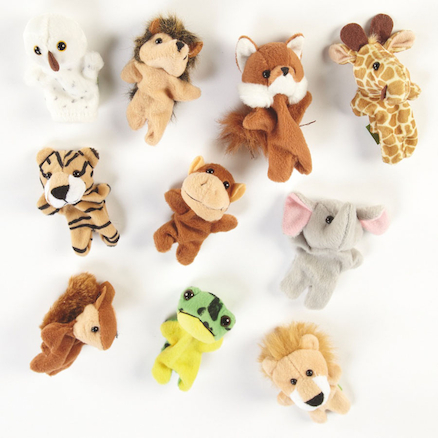 Role Play Wildlife Finger Puppets 10pcs  large
