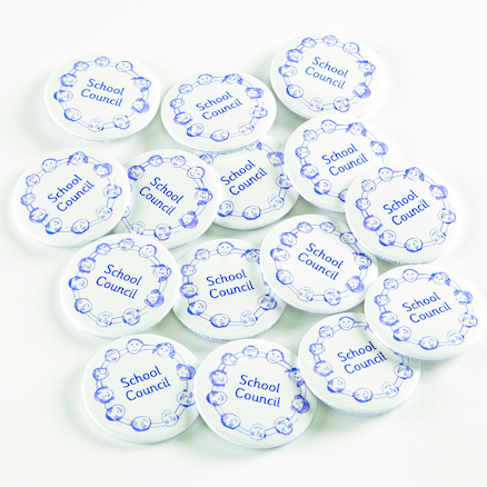 School Council Button Badges 15pk  large