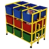 Rainbow 18 Cubby Mobile Storage Unit  small