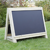 Toddlers Outdoor Chalkboard Wooden Floor Easel  small