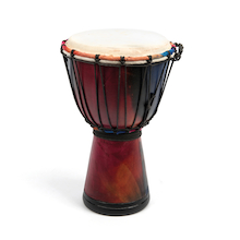 Rainbow Djembe Drums  medium