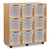 Mobile Tray Storage Unit With 9 Jumbo Trays  small
