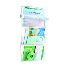 Clear Wall Mounted Documents File 3pk  medium