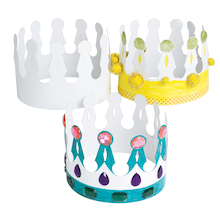 Decorate your own Crown 24pk  medium