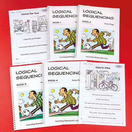 Logical Comprehension Sequencing Activity Book 4pk  large
