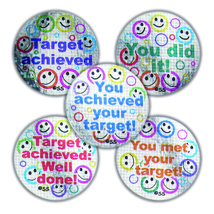 Sparkly Target Stickers 125pk  large