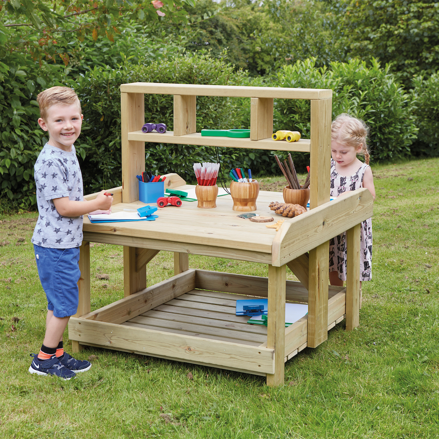 Outdoor Wooden Work Bench And Storage Large TTS School Resources Online Shop