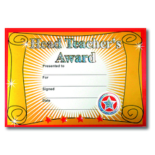 Sparkly Headteacher's Certificate 40pk  medium