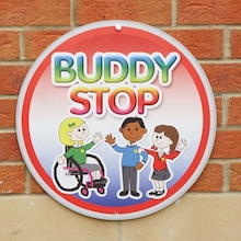 Buddy Stop Playground Sign  medium