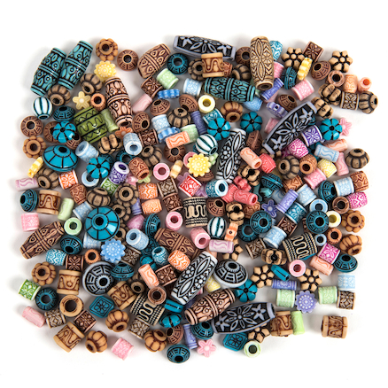 Exotic Design Plastic Bead Collection 112g  large