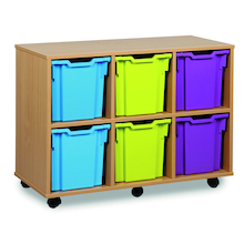 Mobile Tray Storage Unit With 6 Jumbo Trays 3x2  medium