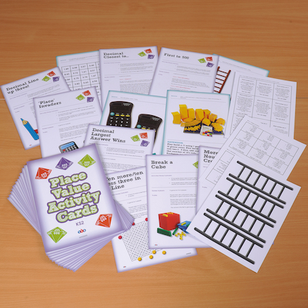 Maths Place Value Activity Cards  large