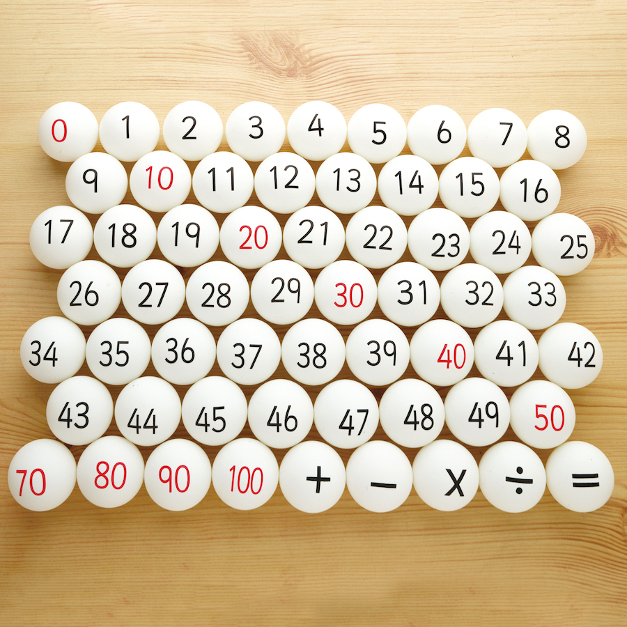 Buy maths number and operations ping pong balls 61pk tts for Small ping pong balls