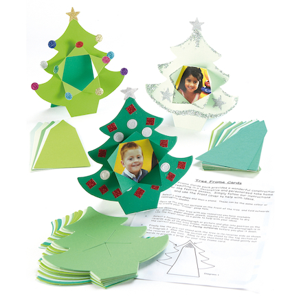 Precut Tree Frame Christmas Cards 20pk  large
