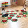 Ladybird Counting Floor Mats 24pk  small