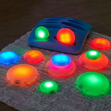 Illuminated Sensory Glow Pebbles 12pcs  medium