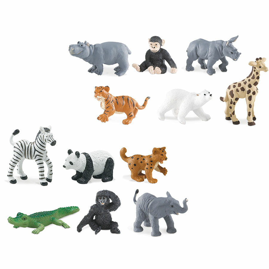 Buy small world zoo animal babies set 12pcs tts - Colorazione pagine animali zoo ...