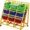 Rainbow 9 Bin Mobile Storage Unit  small