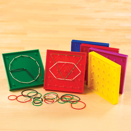 Colourful Geoboards Bulk Pack 42pcs  large