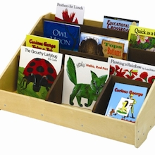 Toddler Book Display Unit with Mirror  medium