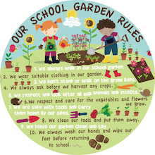 Our Garden Rules Signboard  medium