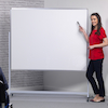 Mobile Height Adjustable Whiteboard  small