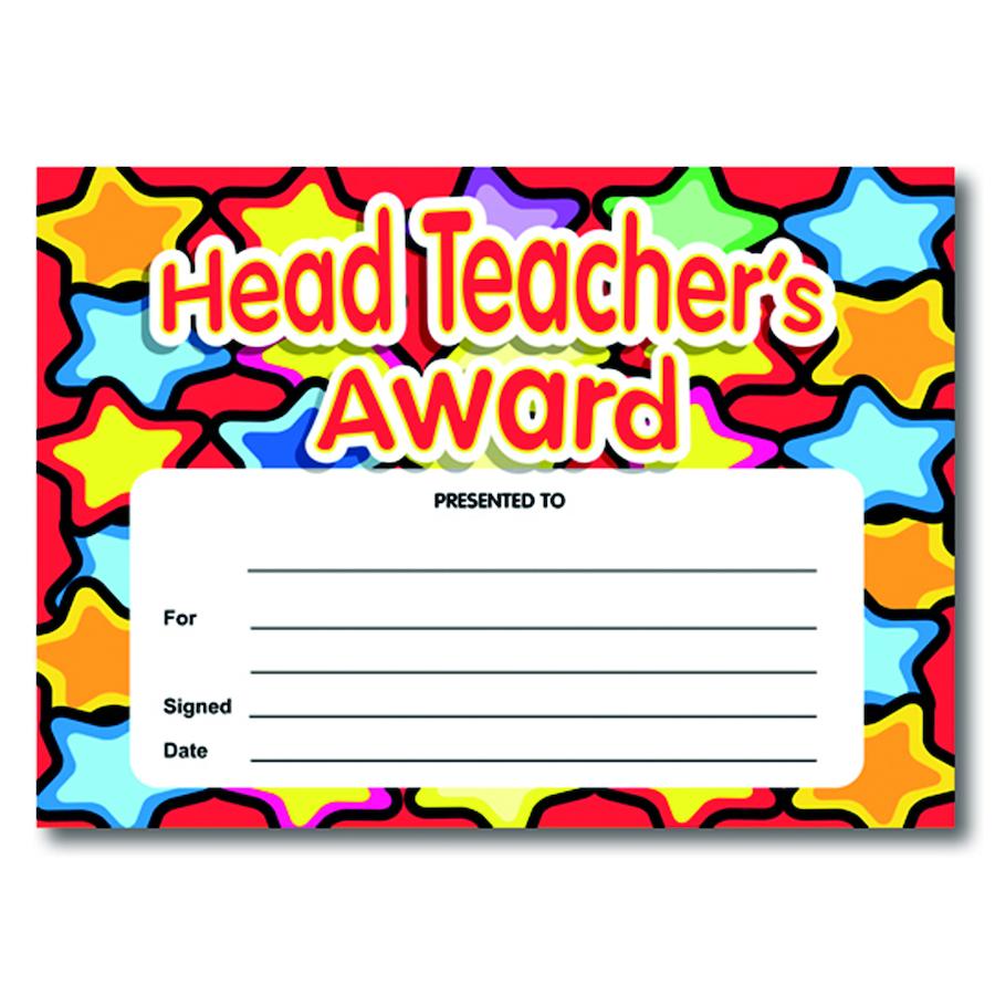 Buy Headteachers Award Certificates TTS
